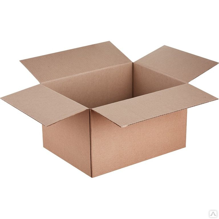 Белая четырехклапанная коробка 500х500х400