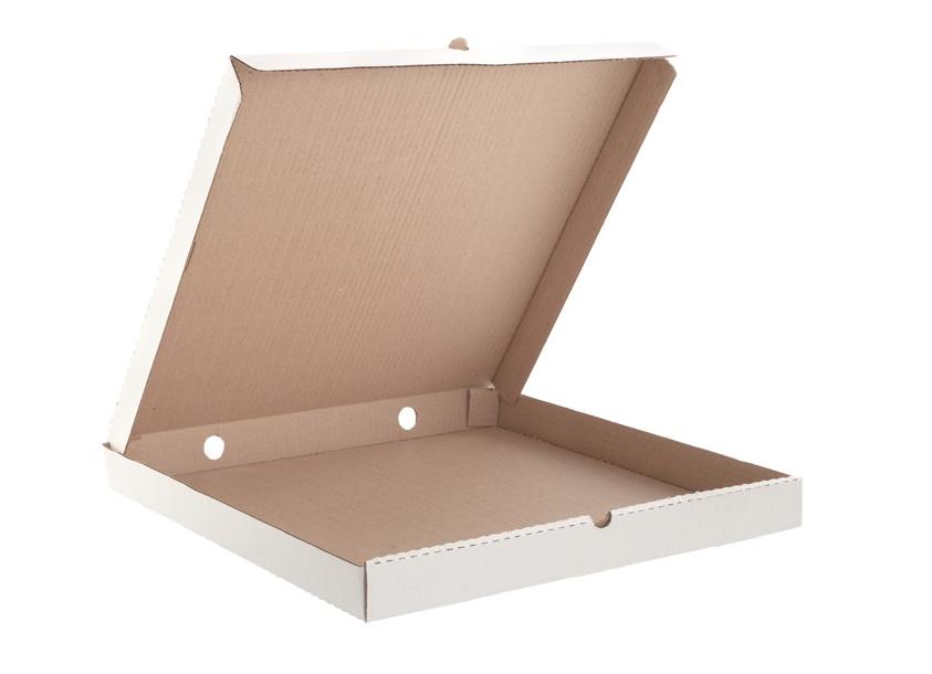 Квадратная белая картонная коробка 210х210х35