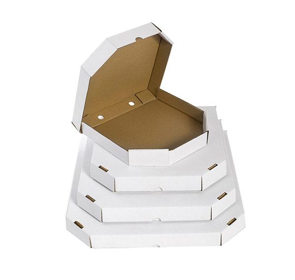 Шестиугольная белая коробка 370x370x40