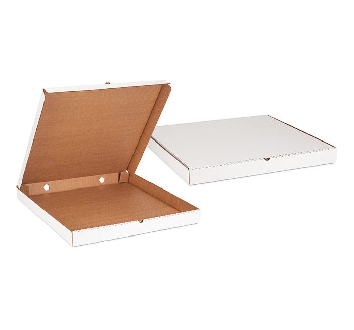 Квадратная белая картонная коробка 250х250х35