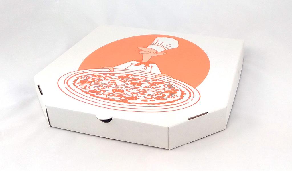 Квадратная картонная коробка для пиццы с рисунком
