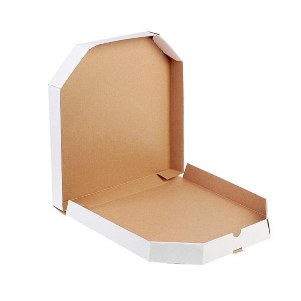 Белая восьмиугольная коробка для пиццы 170x170x35