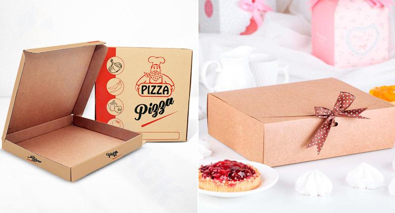 Коробки для пиццы, пирожных и тортов