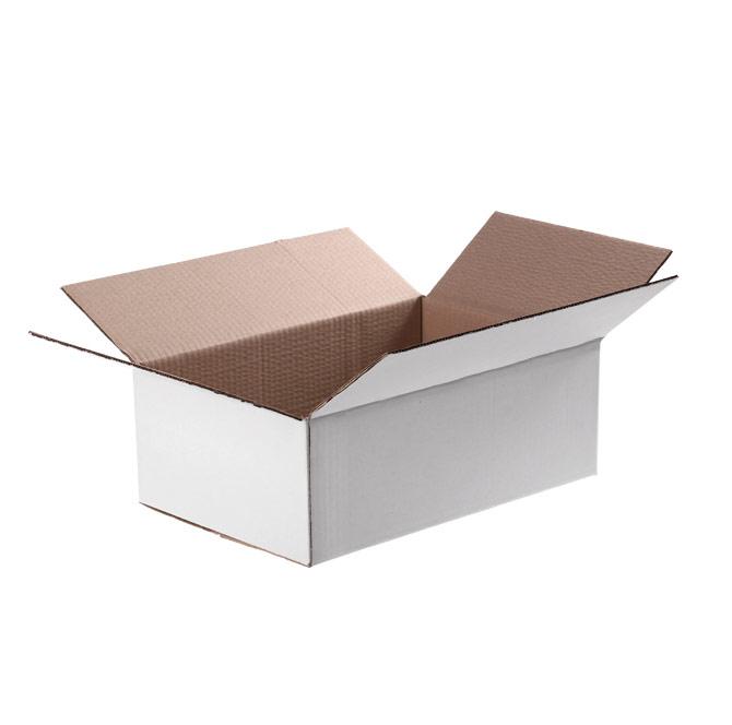 Белая четырехклапанная коробка 470x380x253