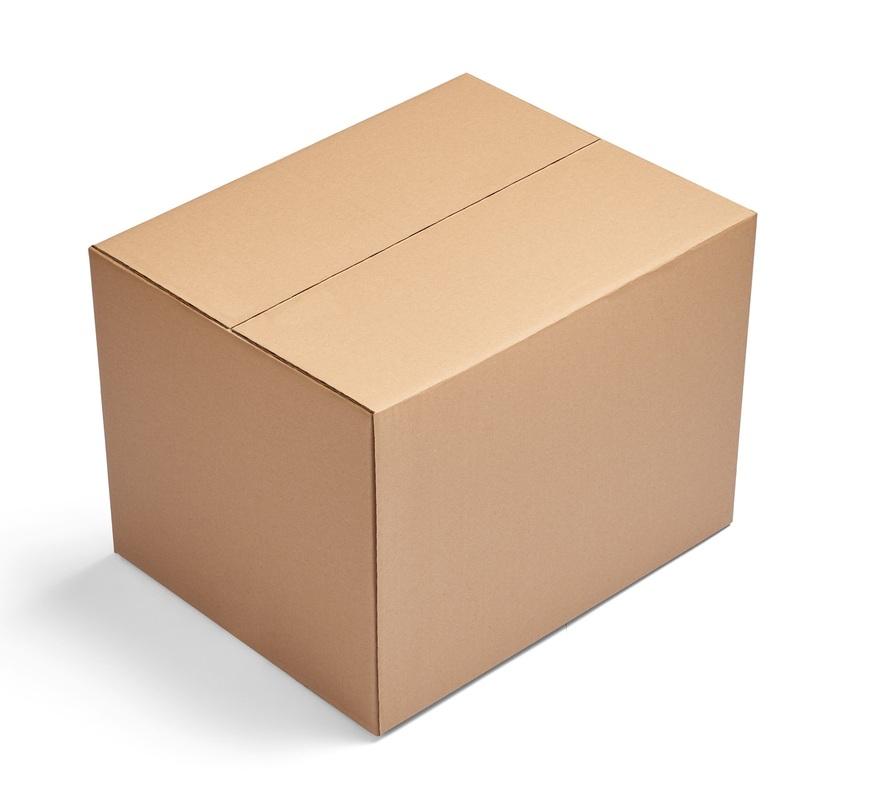 Бурая четырехклапанная коробка 380x304x285