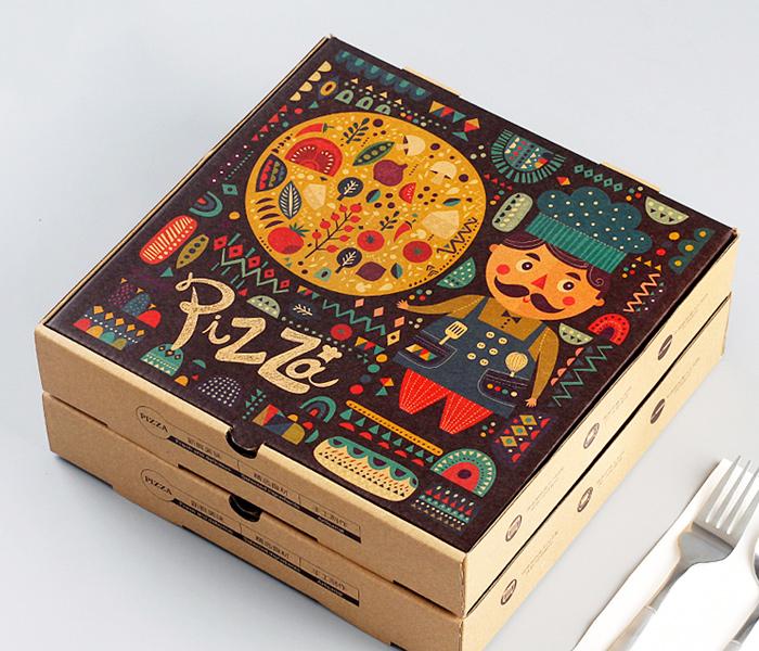Коробки для пиццы с рисунком