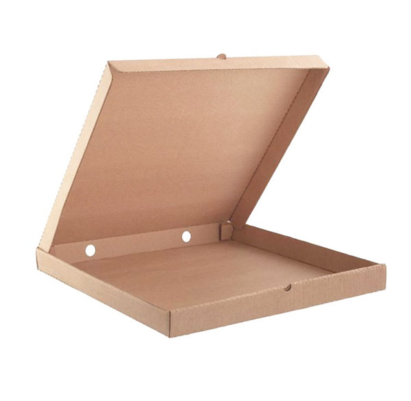 Бурая квадратная коробка для пиццы 250х250х35