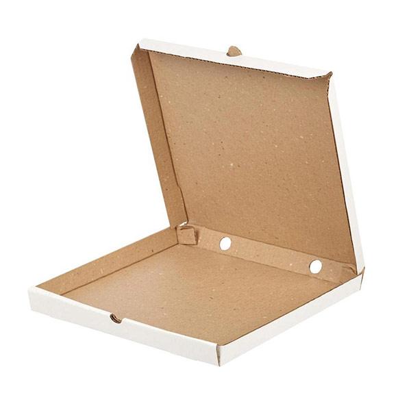 Белая картонная коробка для пиццы 600x600x40
