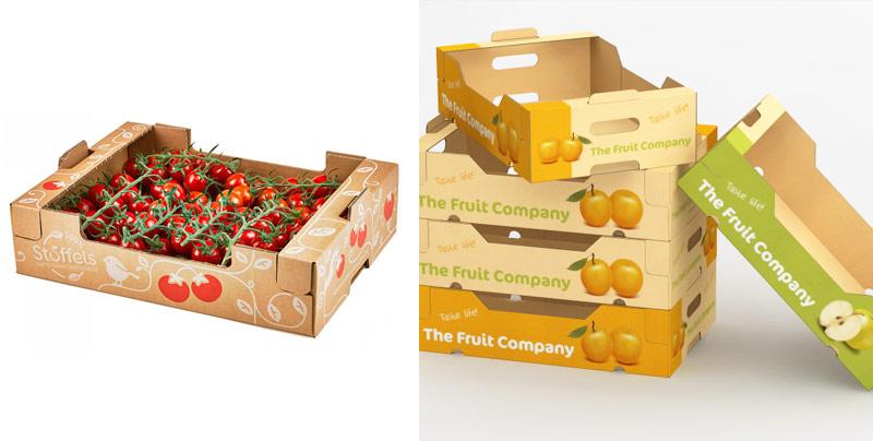 Гофролотки для овощей и фруктов
