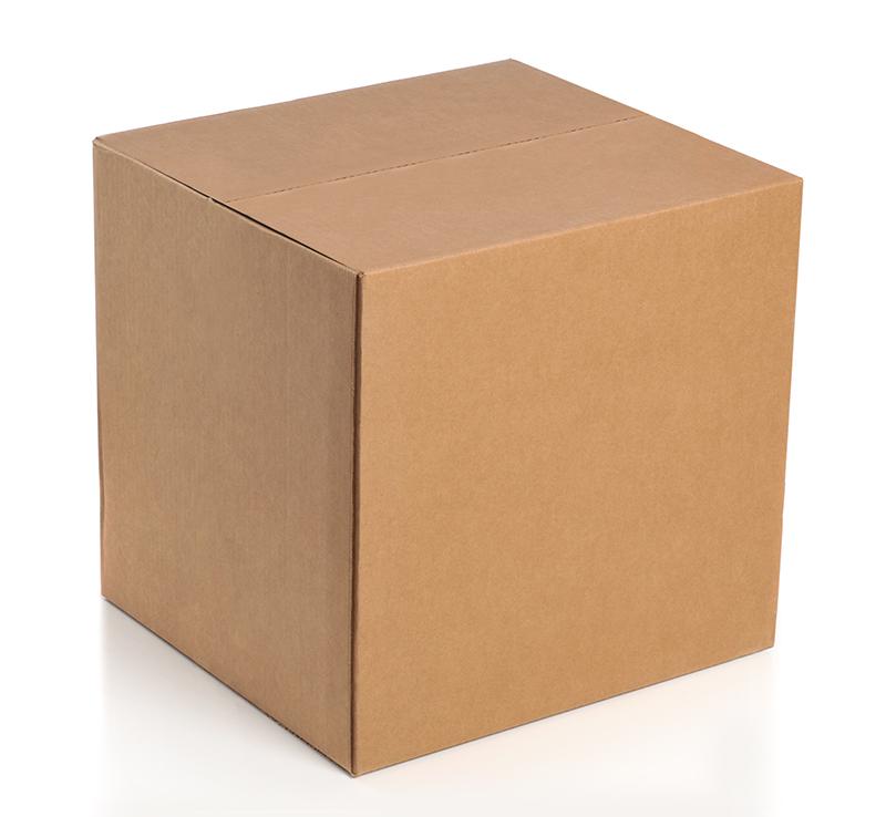 Белая четырехклапанная коробка 100x100x100