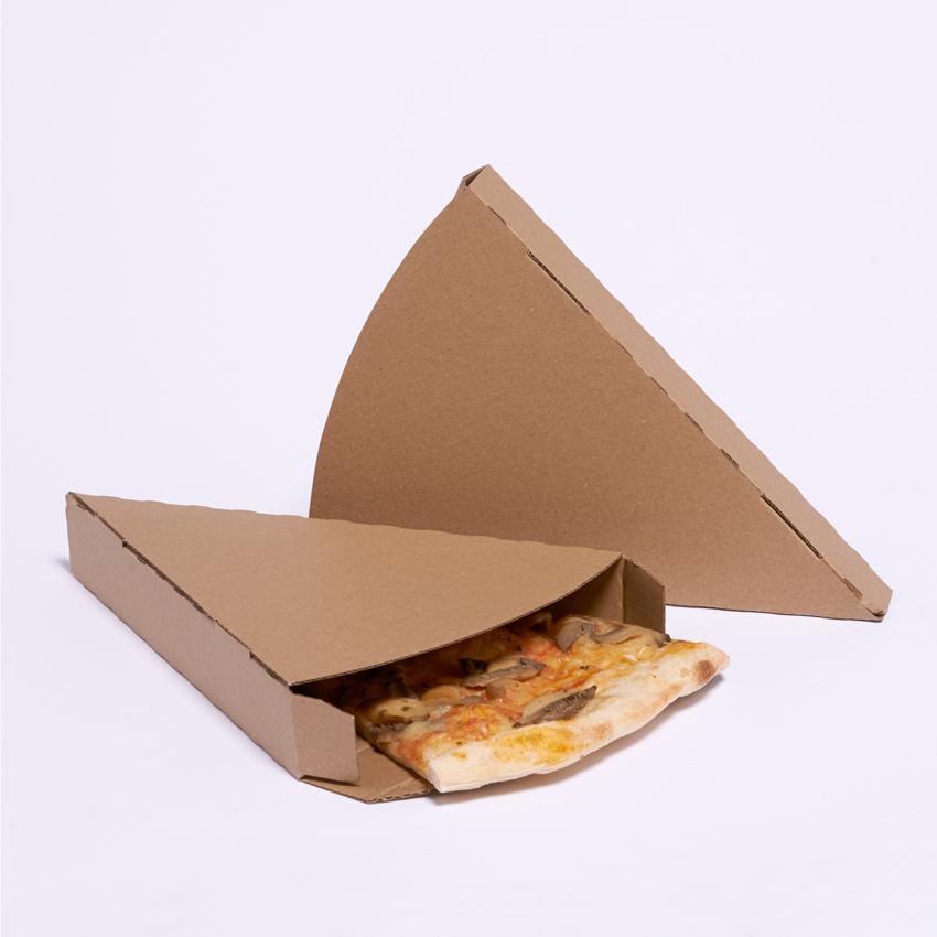 Белая картонная коробка для кусочка пиццы