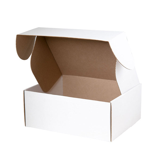 Картонная коробка белая с ушками 320х230х75