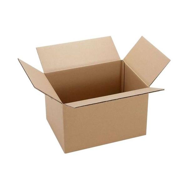 Белая четырехклапанная коробка 400х400х400