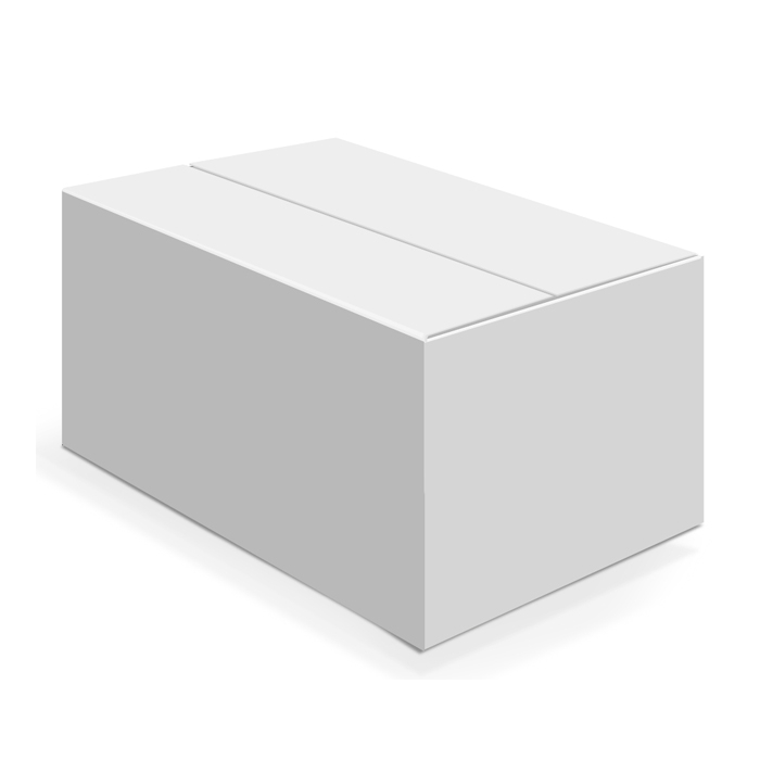 Белая четырехклапанная коробка 380x228x287