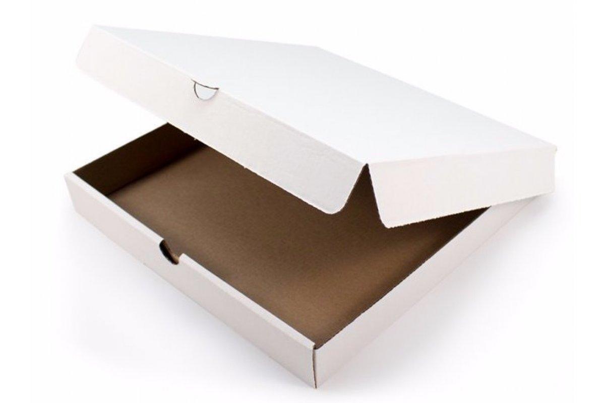 Белая коробка для пирогов 260x260x50