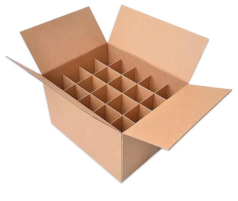 Четырехклапанная коробка с обечайкой (для бутылок)