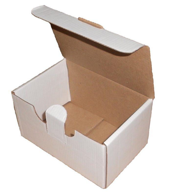 Белая коробка с крышкой и ушками 350х300х120
