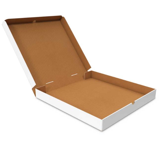 Квадратная белая картонная коробка 170х170х35