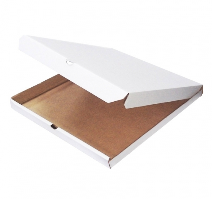Белая квадратная коробка для пиццы 290х290х40