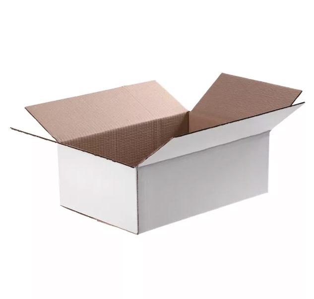 Белая четырехклапанная коробка 1100x500x150
