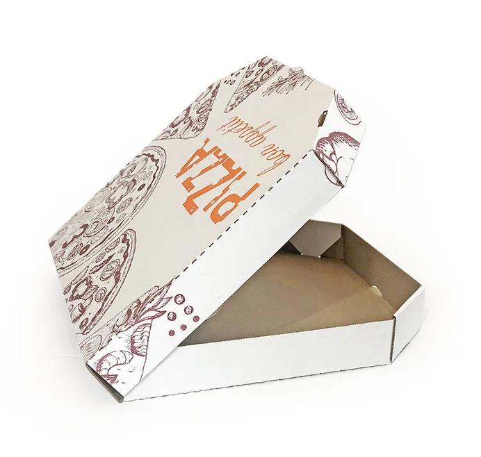 Белая коробка для пиццы и пирогов 600x400x80 цветная с рисунком