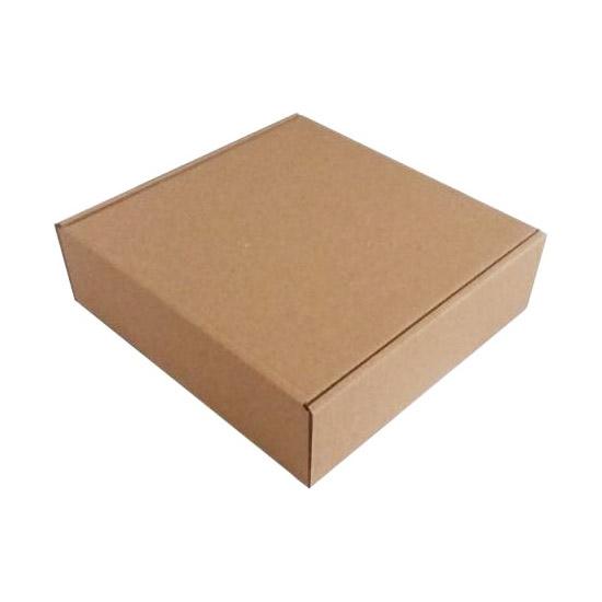 Коробка с крышкой 250 x 250 x 30 белый/бурый