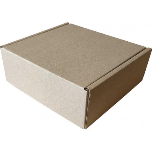 Коробка с крышкой 130 x 130 x 30 белый/бурый