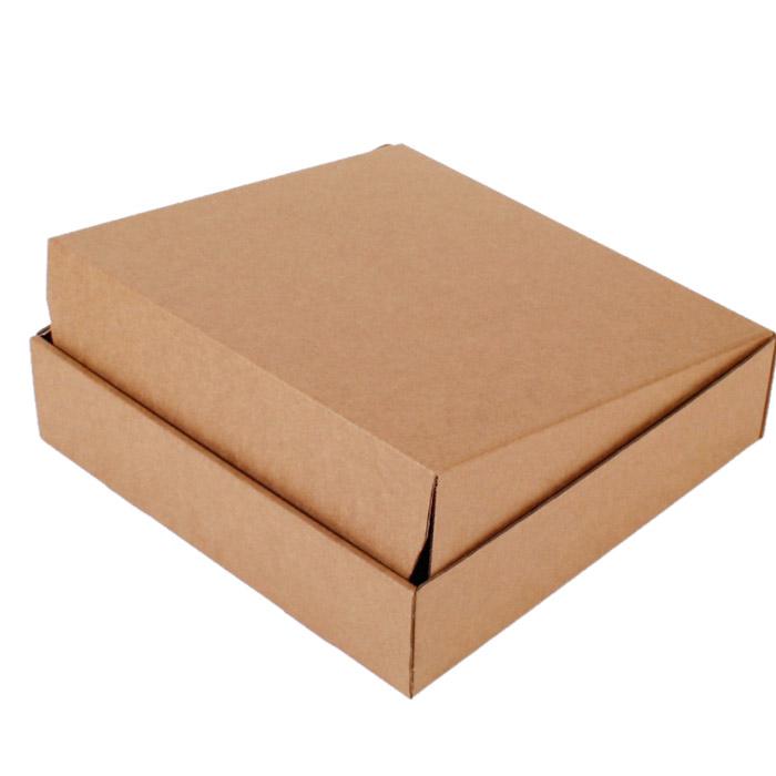 Самосборная коробка 400 x 400 x 80 бурый