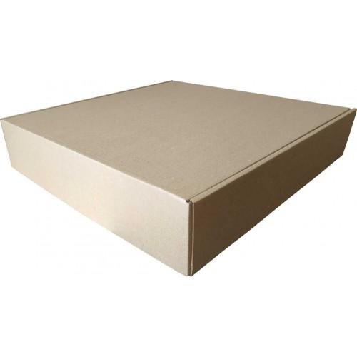 Коробка с крышкой 380 x 380 x 50 белый/бурый
