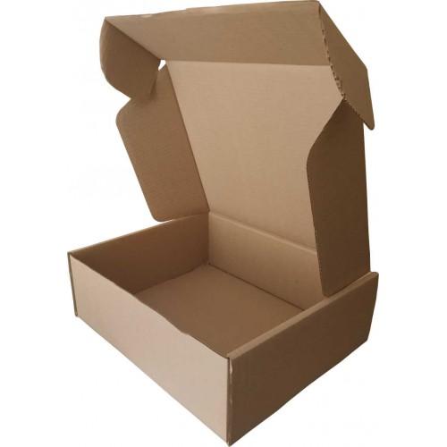 Самосборная коробка 140 x 140 x 35 бурый
