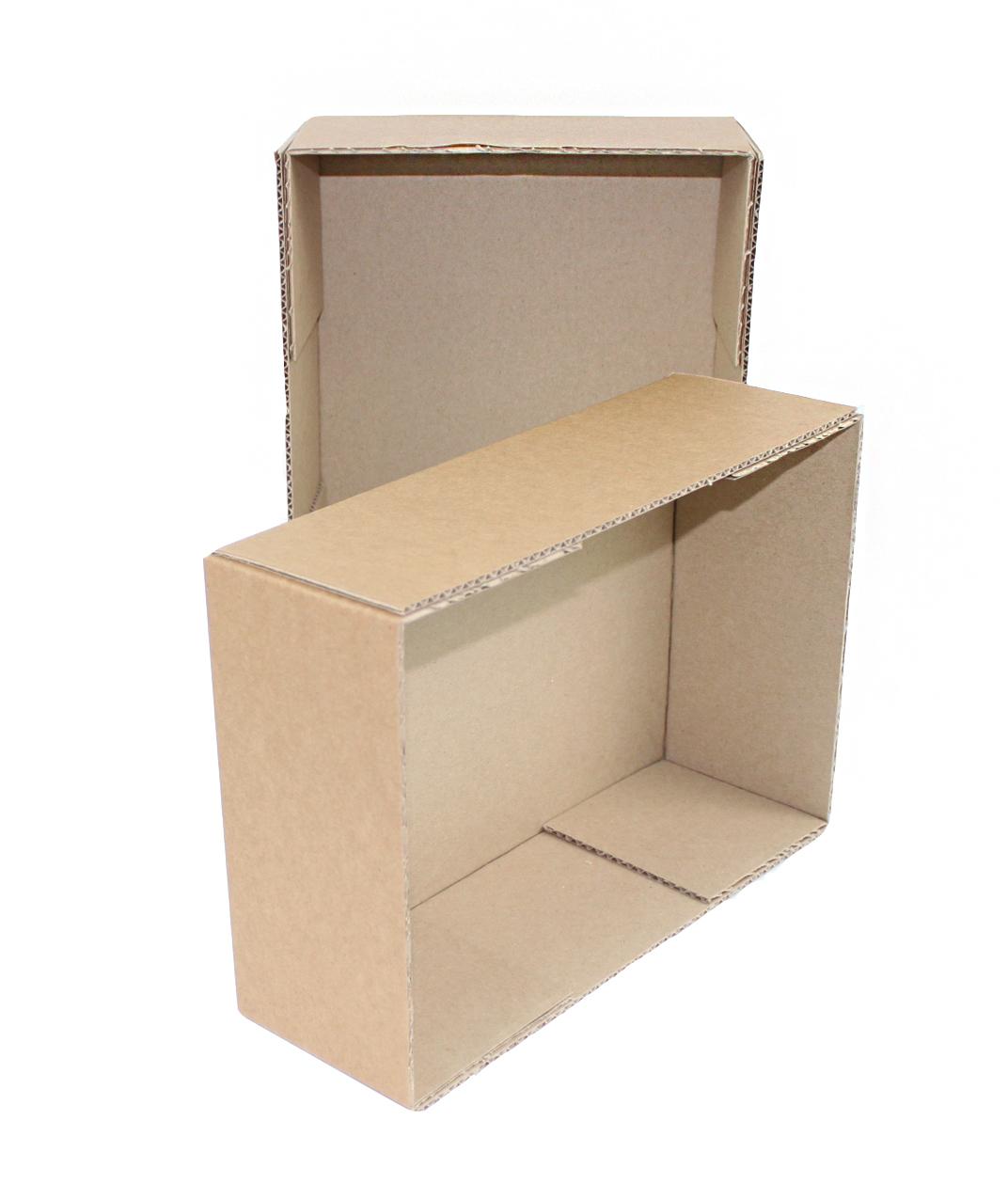 Коробка с крышкой 300 x 300 x 40 белый/бурый