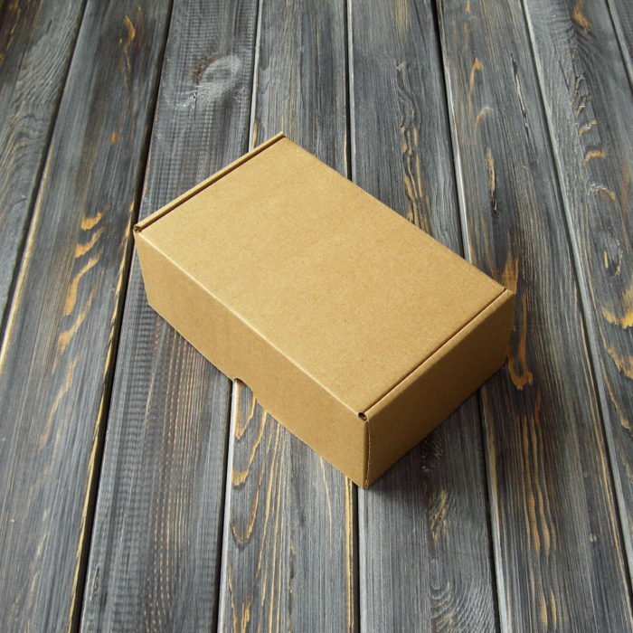 Самосборная коробка 170 x 110 x 65 бурый