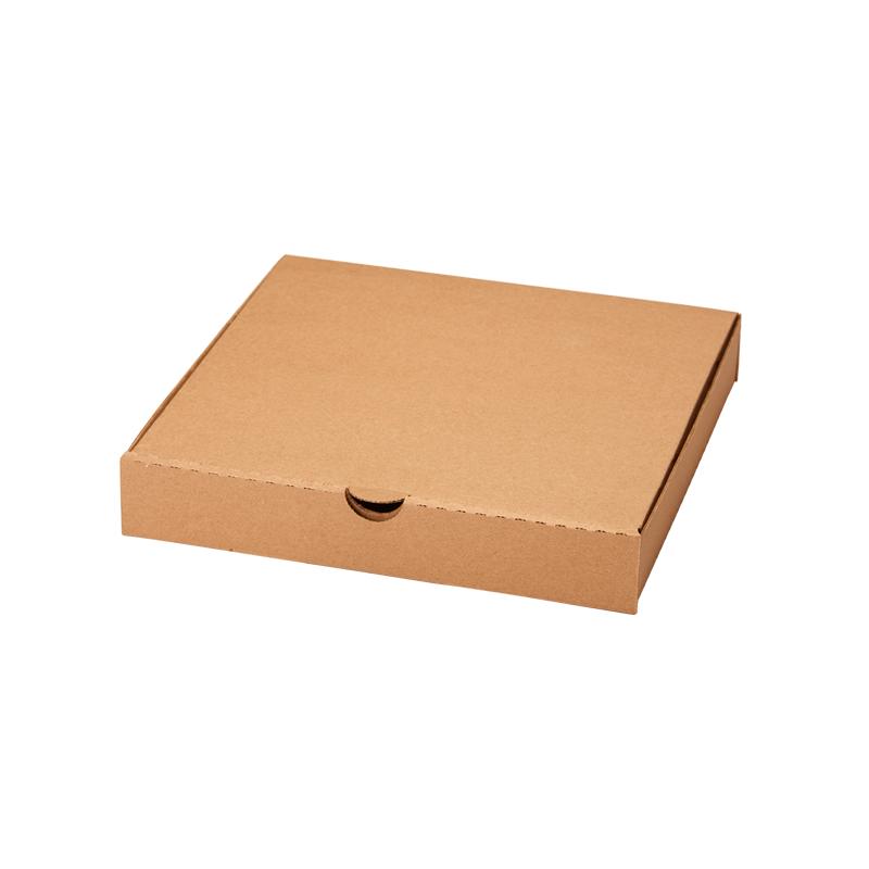 Коробка с крышкой 350 x 350 x 40 белый/бурый