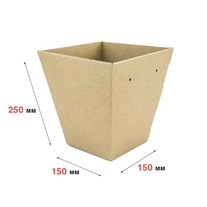 Плайм-пакет 150 x 150 x 250 бурый