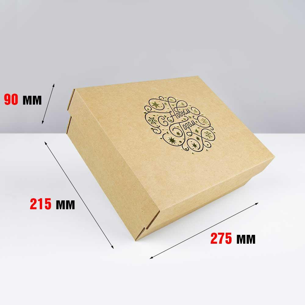 Новогодняя коробка с крышкой 275 x 215 x 90