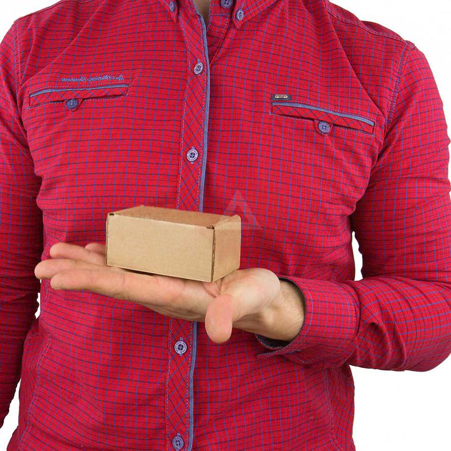 Самосборная коробка 80x50x40 бурый