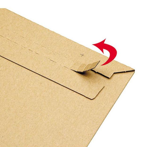 Конверт из картона 320 x 220 x 10 бурый